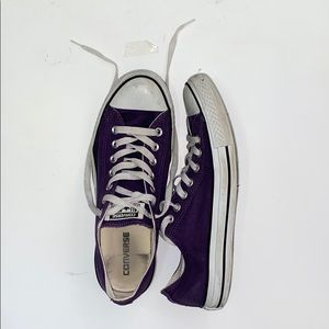 Purple Converse — barely used